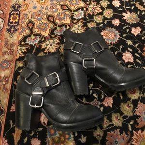 Dolce vita heeled moto boots